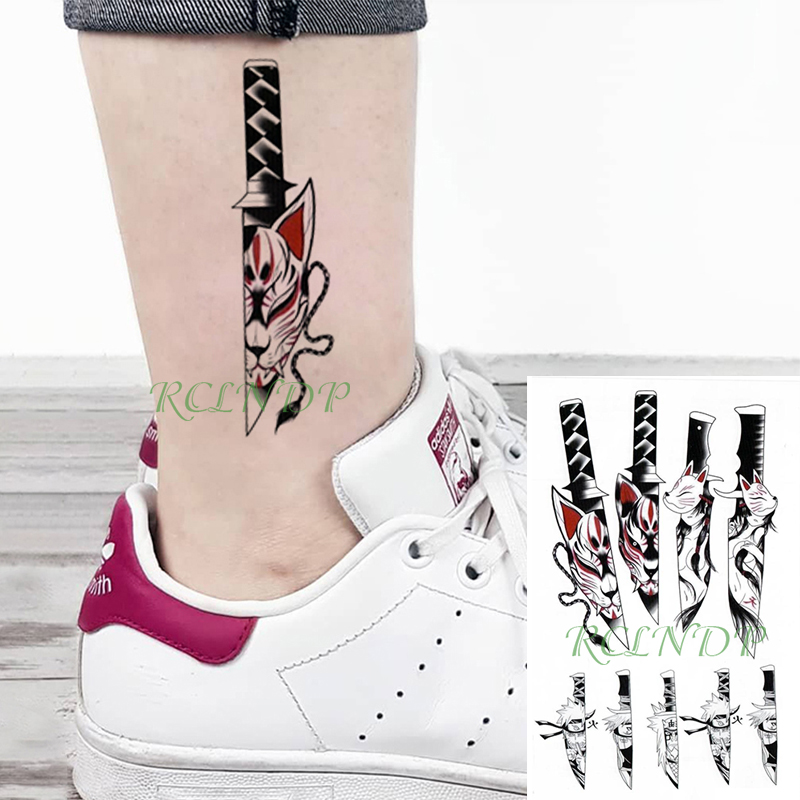 Waterproof Temporary Tattoo Sticker Cartoon Naruto Knife Sexy Girl Cat Fake Tatto Flash Tatoo Big Size Tattoos For Women Men