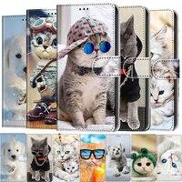 Custodia per telefono con motivo a animali gatto carino per Redmi Note 4 4X 4A 5 5A Plus 6 6A 7 7A 8 8A 9 9A 9S 9C 8T Pro custodia in pelle per libro