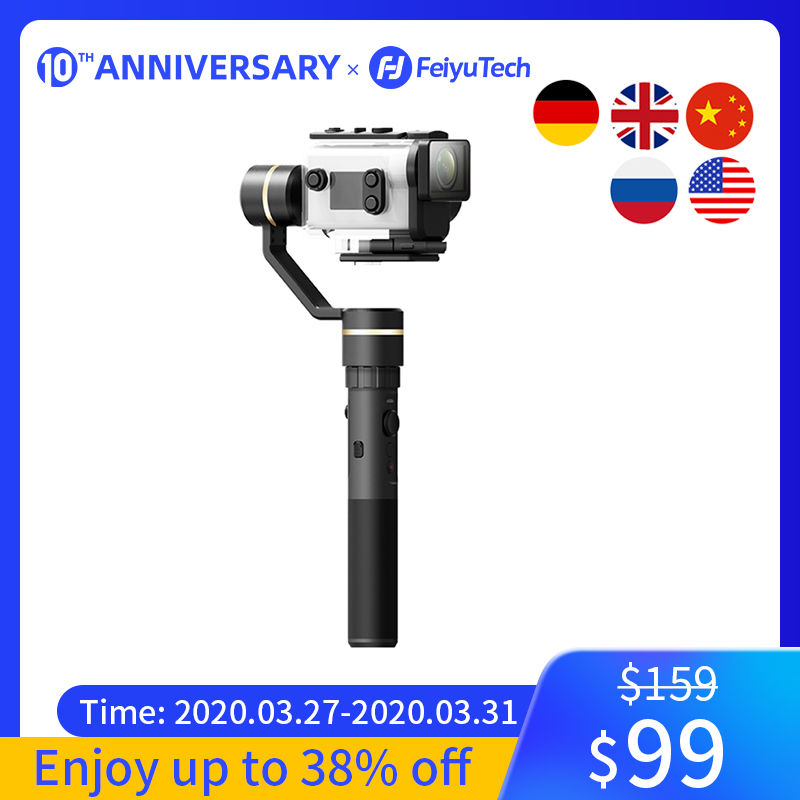 FeiyuTech G5GS Handheld Gimbal 3-Axis Camera Stabilizer For Sony AS50 AS50R  X3000 X3000R Splash Proof 130g-200g Payload