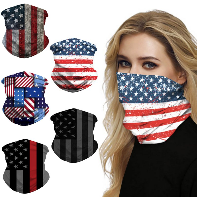 Heandwear Bandanas Fashion National Flag Scarf Seamless Sport Head Scarves Bicycle Fishing Motorcycle Ski Headwear