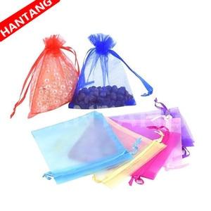 Image 2 - 50 шт. 7x9 9x12 10x15 13x18 см органза подарочные пакеты ювелирные изделия Искусственные Украшения для вечерние Выдвижная сумка подарок белый 5z