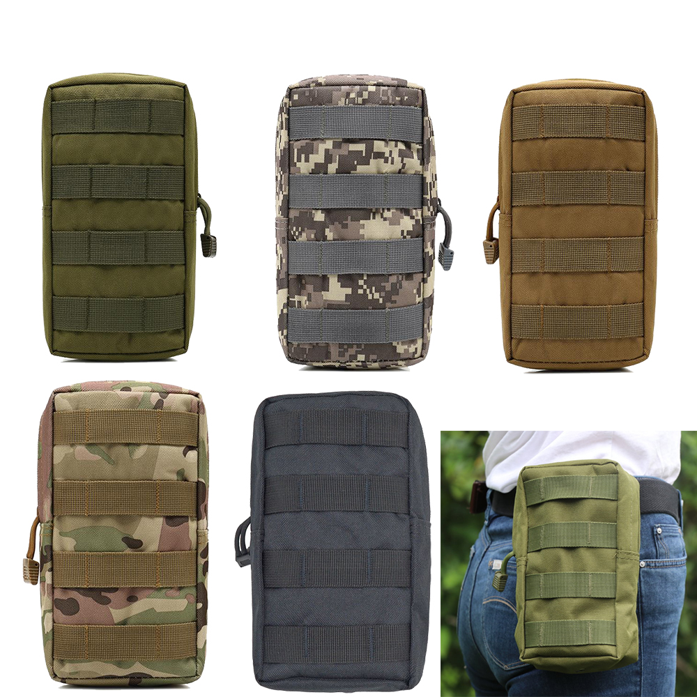Tactical Molle Pouch Bag Utility EDC Pouch for Vest Backpack Belt Outdoor Hunting Waist Belt Pack Military Accessory Bag image