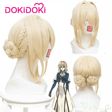 DokiDoki Anime Cosplay Wig Violet Evergarden Women Blonde Hair Heat Resistant
