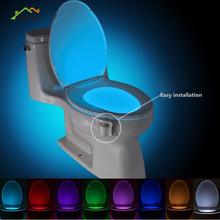 Night-Light Smart-Wc LED Waterproof 8-Color Hanging Luminary Human-Body-Induction-Seat