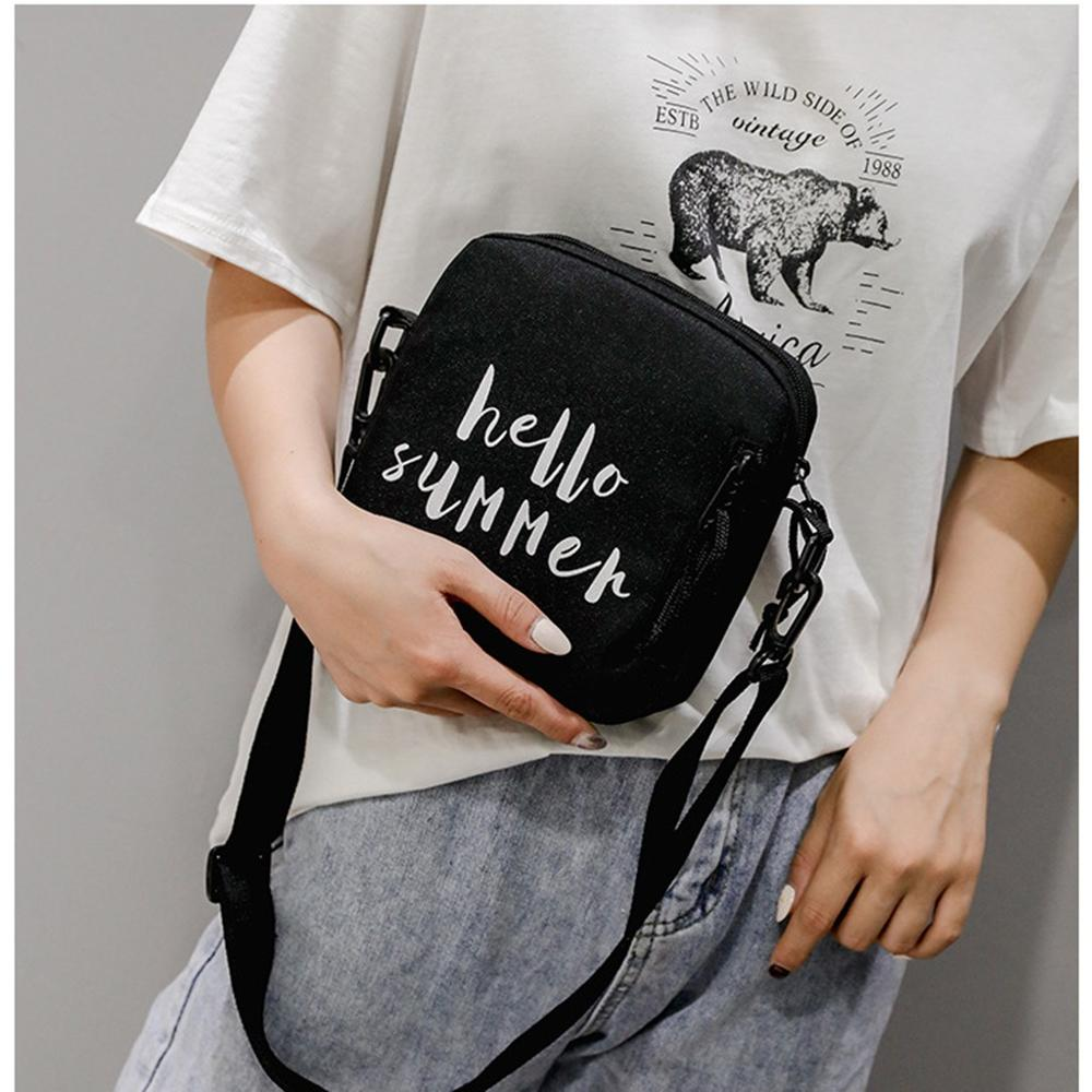 Letter Print Canvas Cross Body Bag For Women Fashion Small Shoulder Bag 2019 New Mini Messenger Bags Phone Coin Bags Purse #15