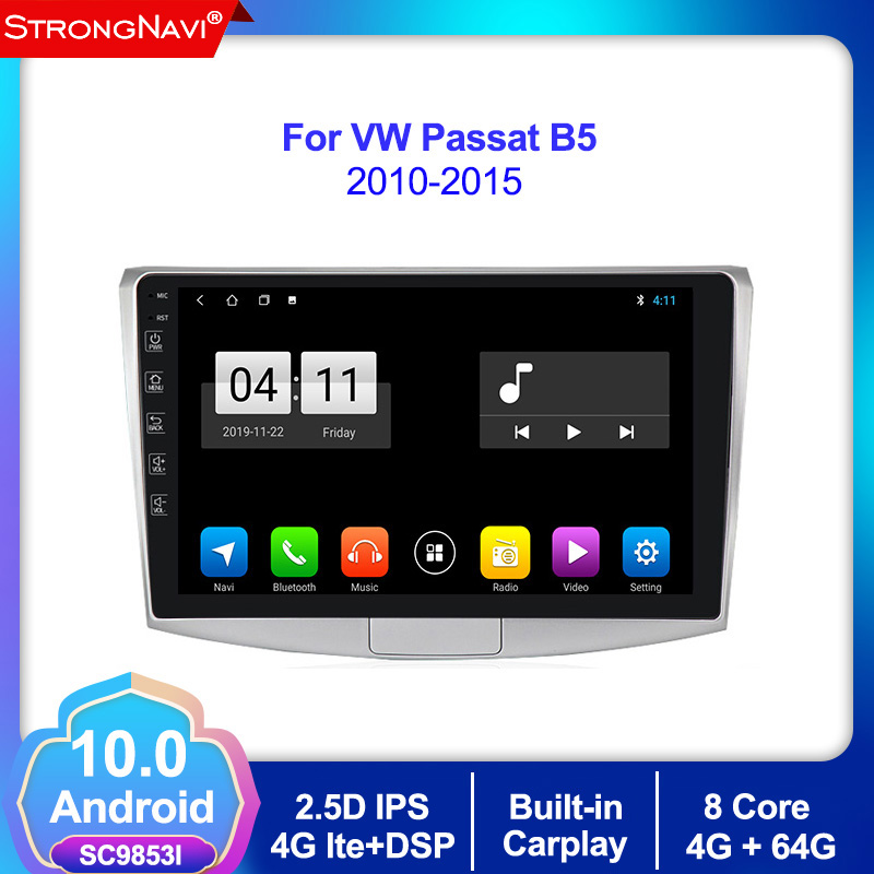 4+64G Android 10.0 Car Radio Multimedia Video Player for Volkswagen Passat B5 B7 2010 2011 2012 2013 2014 2015 GPS Navigation