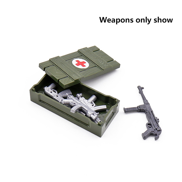 Lego Military set Army City Police Gun Weapons Series Pack City Soldiers SWAT Building Blocks 5