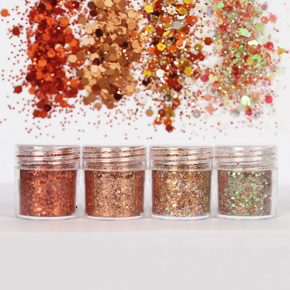 4Pcs Gold Shinning Glitter Hexagon 1mm Sequin Mixed For DIY Making Epoxy Resin Mold Crafts Filling Material Jewelry Tool Pigment
