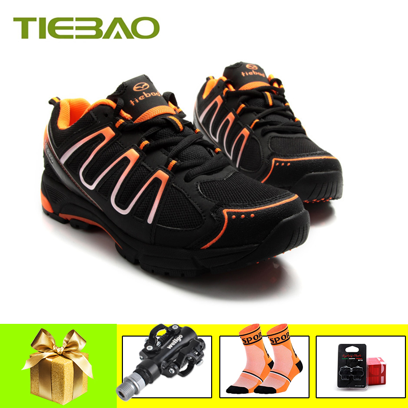 TIEBAO Cycling Shoes Mtb Sapatilha Ciclismo Men Women Breathable Leisure Cycling Sneakers Self-locking Athletic Bike Shoes