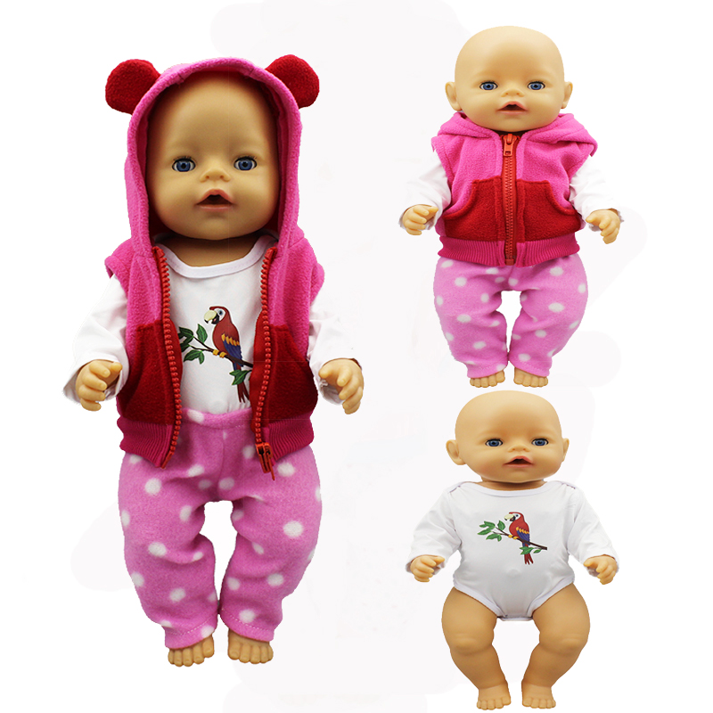 Meired Warm Suit Doll Clothes Fit 17 Inch 43cm Doll Clothes Born Baby Suit For Baby Birthday Fistival Gift
