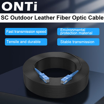 ONTi SC UPC to Fiber Optic Drop Cable Single Mode Simplex 2.0mm Outdoor Patch Cord Optical - discount item  50% OFF Communication Equipment