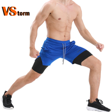 For athletes 2-in-1 Men Running Shorts with Phone Pocket Towel Loop Quick Dry Exercise Shorts Pockets for Training Gym Workout