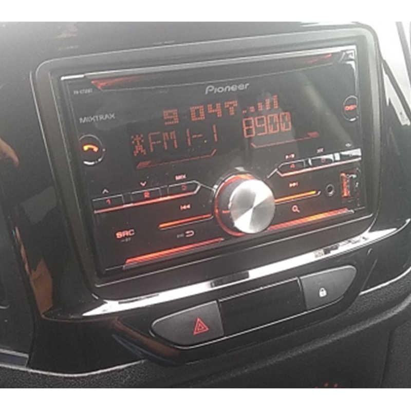 2 Din ラジオ筋膜ルノーダスター 2010 + Logan サンデロ Dacia Dokker DVD CD ダッシュトリムインストールマウントキット