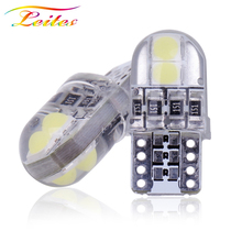 Wholesales 2000x T10 LED W5W Canbus 3030 4 SMD 194 168 W5W Non polar Auto Wedge Tail Side Bulb reading plate lamp