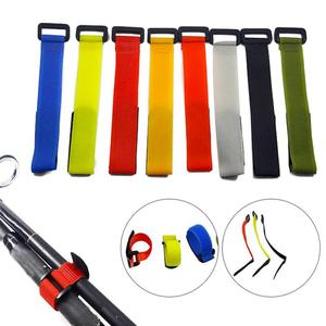 Bundle Fish Line Fishing Rod Tie Holder Strap Fastener Hook Loop Cable Cord Ties Belt Fishing Tackle Box Accessories very cheap!