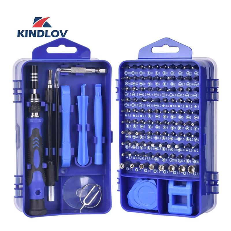 KINDLOV Phone Repair Tools Kit Screwdriver Set Precision 115 In 1 Magnetic Torx Hex Bit Screw Driver Bits Insulated Multitools(China)