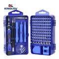Kit de herramientas de reparación de teléfonos KINDLOV conjunto de destornillador precisión 115 en 1 punta hexagonal Torx magnética brocas de destornillador aislantes multiherramientas