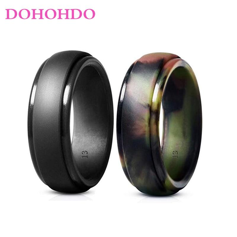 WBL 7-14 размер Новые мужские силиконовые кольца гипоаллергенные гибкие мужские свадебные резинки 8 мм пищевой силикон FDA Finger Rin