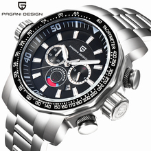 2019 New PAGANI DESIGN Military Men's Watches Luxury Brand Full Stainless Steel Big Dial Sports Watch Men Male Relogio Masculino pagani design dive military watches men luxury brand full stainless steel big dial quartz watch relogio masculino 2016 clock men