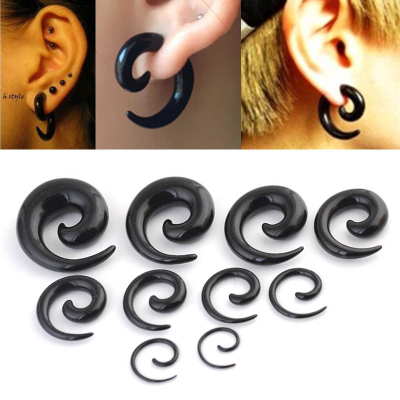 16pcs Stainless Steel Ear Plug Expander Flesh Tunnel Piercing Assorted Kit