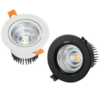 Luces empotradas LED regulables 3W 5W 7W 9W 12W 15W COB lámpara de punto para techo luces AC110-220V luces empotrables de techo iluminación interior
