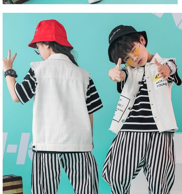 crianças para meninas trajes hiphop desempenho vestuário