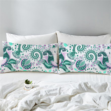 50X90CM Tropical Plants Pillow Case Polyester Decorative Pillowcases Green Leaves Throw Pillow Case chic quality green plants pattern flax pillow case(without pillow inner)