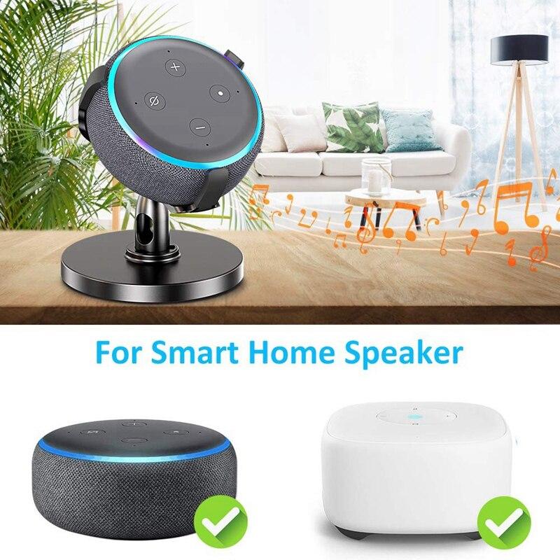 Настольный держатель для Echo Dot 3-го поколения, регулируемый кронштейн-подставка на 360 ° для умных домашних динамиков, улучшает видимость звука A