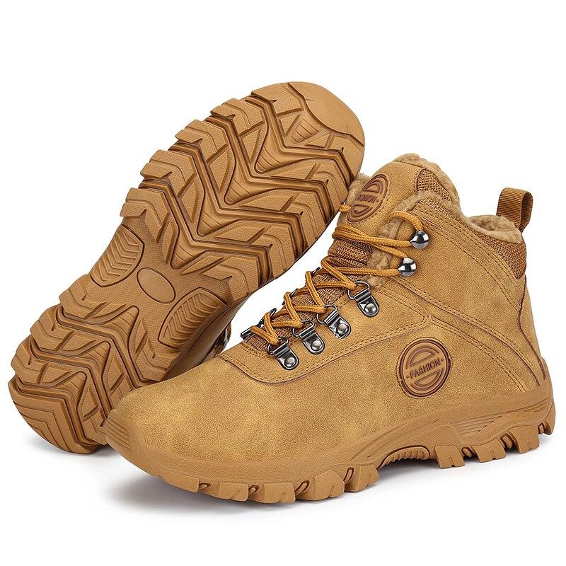 Winter Wandern Schuhe Männer Im Freien Turnschuhe Warme Plüsch Taktische Stiefel Männer Anti Skid Trekking Schuhe Schnee Wandern Stiefel Botas Hombre