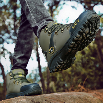 2020 Men Waterproof Hiking Shoes Military Tactical Boots DELTA Outdoor Breathable Climbing Shoes Non-slip Trekking Sneakers Male 5