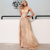 Vestidos Mujer Dress Vadim And American Women's Sexy Elegant Off Shoulder Flash Suspender Backless Prom Party Wholesale