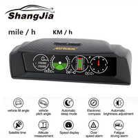 AUTOOL X90 GPS Geschwindigkeit Hang Meter Neigungsmesser Auto HUD Automotive Tilt Pitch Winkel Winkelmesser Breite Länge Smart Kompass