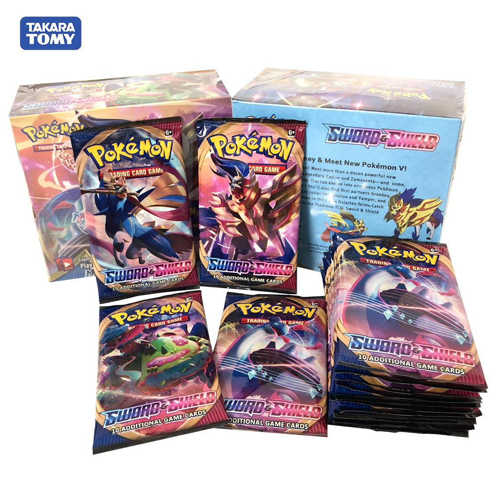 324pcs Pocket Monster Pikachu Pokemon Sun&Moon Sword & Shield Vmax Evolution Booster Box Trading Cards Game Kids Collection Toy