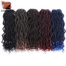 Elegant MUSES богиня искусственные локоны в стиле Crochet косы вьющиеся 16 дюймов мягкого натурального эффектом деграде(переход от темного к Синтетические пряди для наращивания волос 12 нитей 1 шт