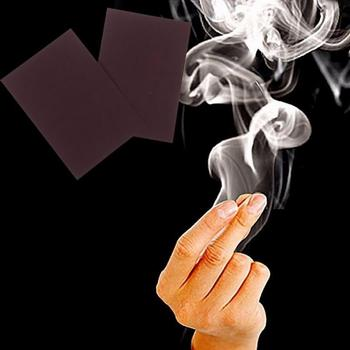 1pcs Chemical Magic Paper Cool Close Up Magic Trick Fingers Smoke Hells Smoke Stage Stuffs Fantasy Prop Make fun image