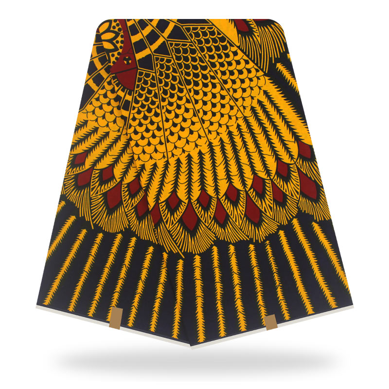 African Veritable Guaranteed Real Dutch Wax High Quality Pagne Wax Cotton 6yards African Ankara Sewing Fabric For Clothes