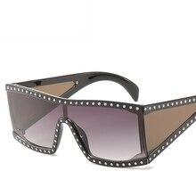 2020 Oversized Shield Sunglasses Goggle One Piece Lens Big V