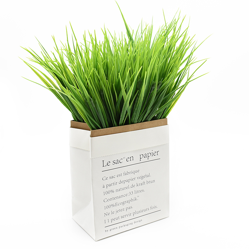 7forks Plastic Grass Household Products Vase For Home Decor Christmas Craft Supplies Wedding Decorative Flower Artificial Plants