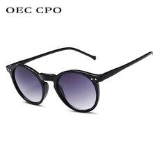 OEC CPO Men Retro Round Sunglasses Women Brand Fashion UV400 Glasses O189