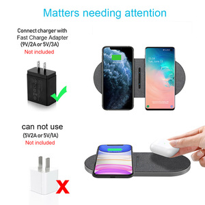 Image 5 - FDGAO 2 in 1 30W Wireless Charger for iPhone 12 Pro Max Mini 11 XS XR X 8 Airpods Qi Dual Fast Charging Pad For Samsung S21 S20