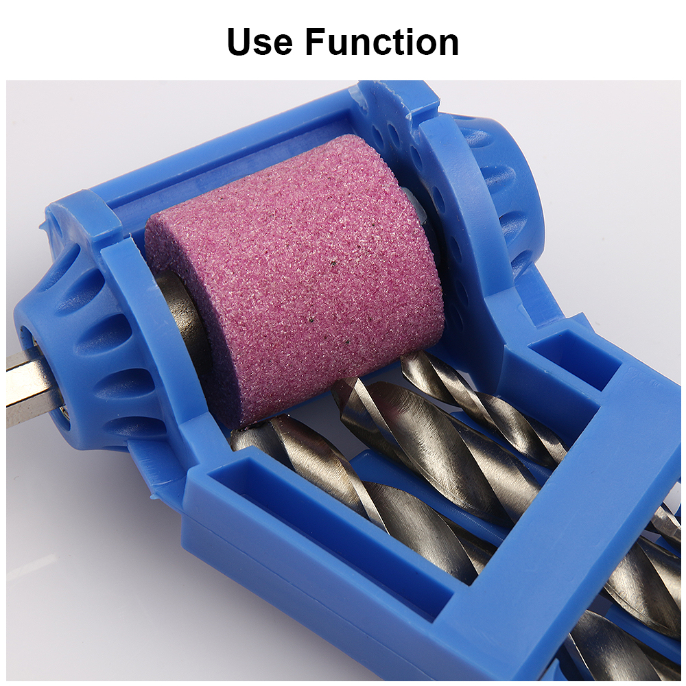 Blue Or Orange Corundum Grinding Wheel Bit Tool Portable Drill Bit Sharpener Twist Drill Bit Sharpening Machine 2-12.5mm
