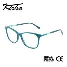 Kirka משקפיים מסגרת נשים בציר גברת Eyewear מסגרת ברורה עדשת משקפיים קריאה אופטי משקפיים מסגרת מרשם משקפיים נשים