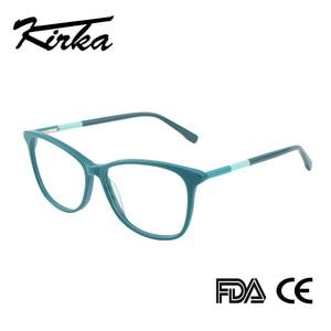 Image 1 - Kirka óculos frame feminino vintage senhora óculos quadro lente clara óculos de leitura óculos ópticos armação de prescrição feminino