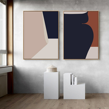 Modern Creative Abstract Geometric Graphics Line Canvas Paintings Poster and Print Wall Art Pictures for Living Room Home Decor