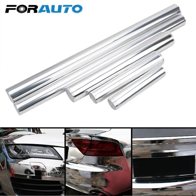 $ 2.92 FORAUTO Flexible Silver Chrome Mirror Vinyl Wrap Film Car Sticker Car-styling Car Stickers Decals Sheet DIY High Stretchable