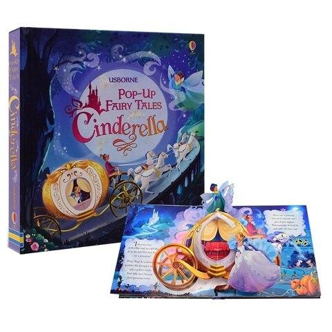 usborne pop up conto de fadas cinderela ingles educacional 3d aleta imagem livros criancas livro
