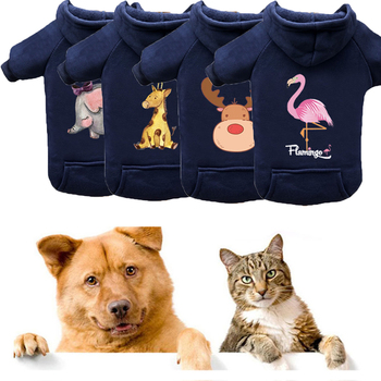Dog Clothes Thicken Warm Pet Sweater Autumn Winter Comfortable Plush Cat Puppy Costume Cartoon Dog Clothing for Small Large Dogs image