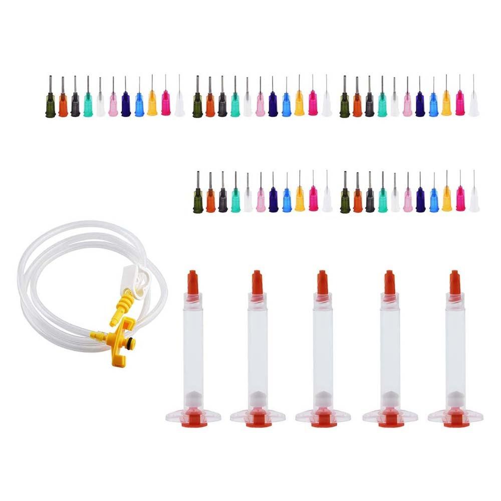 3cc 5cc 10cc 30cc 55cc Syringe Solder Paste Adhesive Glue Liquid Dispenser And Dispensing Needle Tip