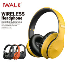 IWALK Wireless Headphones Bluetooth 5.0 HIFI Subwoofer Earbuds Foldable Sport Business Earphones for Apple Huawei Samsung Xiaomi(China)