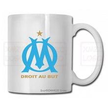 Homens Copo Caneca Olympique de Marseille França Futebol Tops O Pescoço Mulheres Adultas Dos Homens Das Mulheres